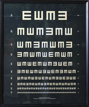 Picture of Vintage Eye Chart EE