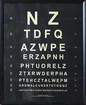 Picture of Vintage Eye Chart Nz