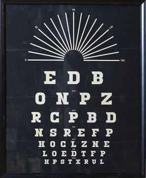 Picture of Vintage Eye Chart Radial