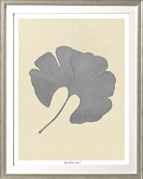 Picture of Grey Ginkgo Leaf I Sml