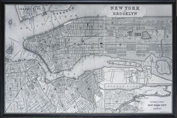 Picture of Map - New York City - 1887