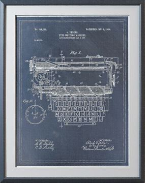 Picture of Typewriting Machine Patent I