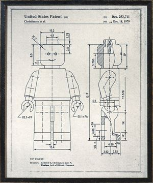 Picture of Lego Man Patent - Parchment