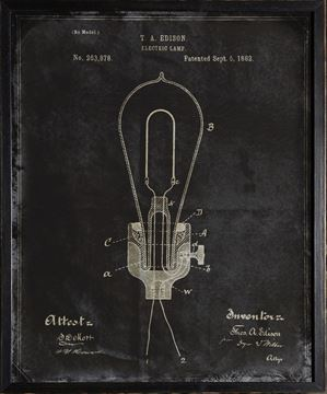 Picture of Edison Patent, 1882