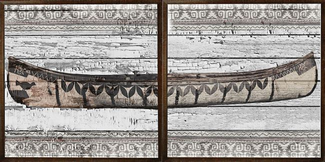 Picture of Birch Bark Canoe Diptych