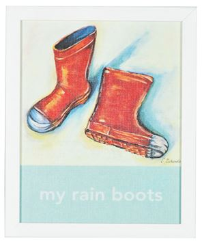 Picture of Kids - My Rain Boots - Framed on Board