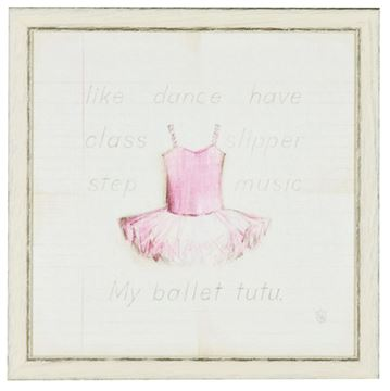 Picture of Kids - Ballet Tutu - Framed on Board