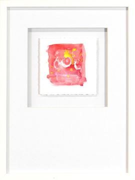 Picture of Watercolor Series - Magenta VI (White)