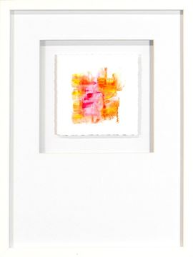 Picture of Watercolor Series - Magenta VII (White)