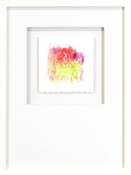 Picture of Watercolor Series - Magenta VIII (White)