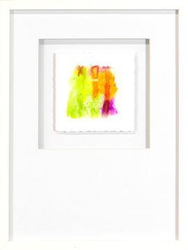 Picture of Watercolor Series - Magenta IX (White)