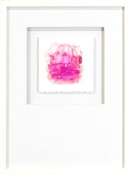 Picture of Watercolor Series - Magenta XI (White)