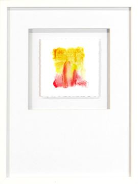 Picture of Watercolor Series - Magenta XII (White)