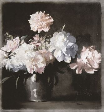 Picture of Still Life - Vase Of Peonies - Gallery Wrap Canvas
