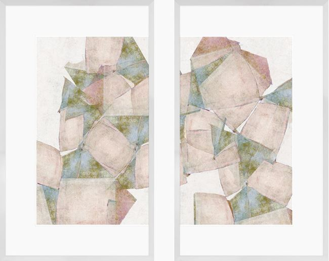 Picture of Pastel Block Diptych