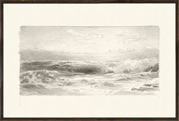 Picture of Richards - Folio, Graphite Seascape I - 1870
