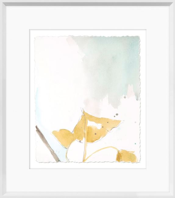 Picture of Ginkgo On Dusty Teal III