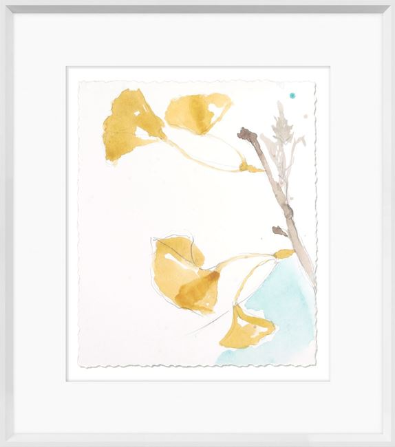 Picture of Ginkgo On Dusty Teal IV