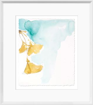 Picture of Ginkgo On Dusty Teal IX