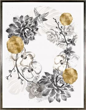 Picture of Succulent Wreath Overlay II - Lrg