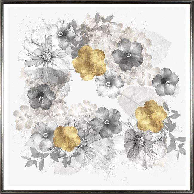 Picture of Floral Wreath Overlay Square