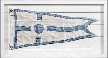 Picture of Yachting Burgee - Blue Circle