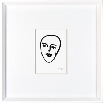 Picture of Matisse - Face - White