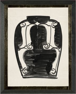 Picture of Cachet Vase VI - Black - Sml
