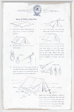 Picture of Girl Scouts - How to Pitch a Pup Tent - 1954