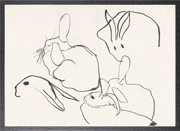 Picture of Collection 12 - Cachet, Rabbit Study - 1896