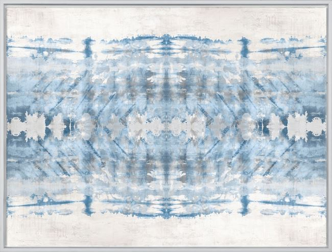 Picture of Painted Shibori - Mid Framed Canvas