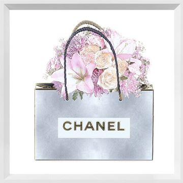 Picture of Silver Bag with Pink Bouquet