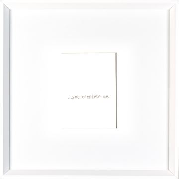 Picture of You Complete Me  - White