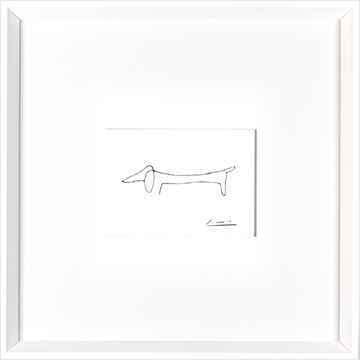 Picture of Picasso Dog  - White