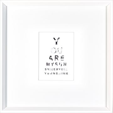Picture of You Are My Sunshine  - White