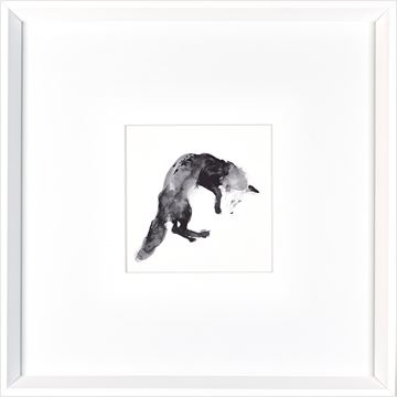 Picture of Pouncing Fox - White