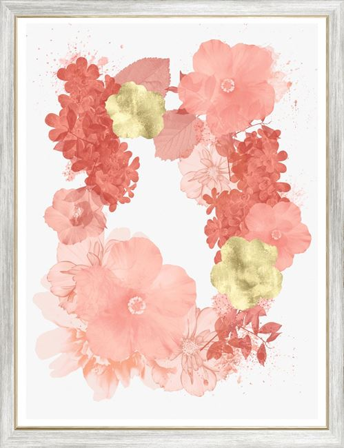 Picture of Coral Floral Overlay II - Large
