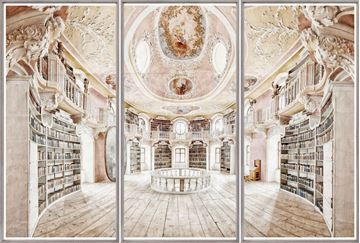 Picture of Abbey Saint Mang - Bavaria, Germany - Triptych