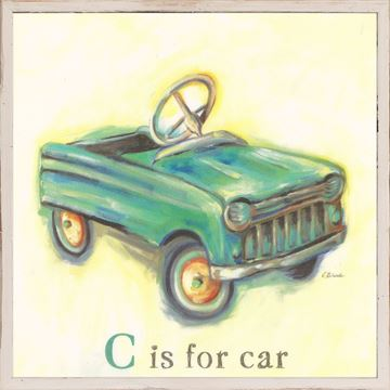 Picture of Kids - C Is For Car - Framed on Board