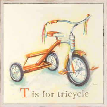 Picture of Kids - T Is For Tricycle - Framed on Board
