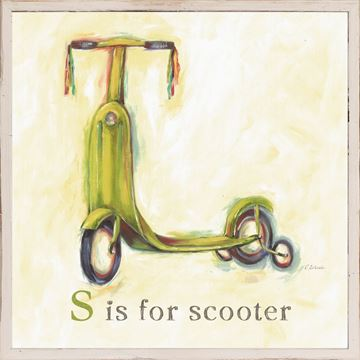 Picture of Kids - S Is For Scooter - Framed on Board