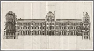 Picture of Elevation Of The Louvre 1659