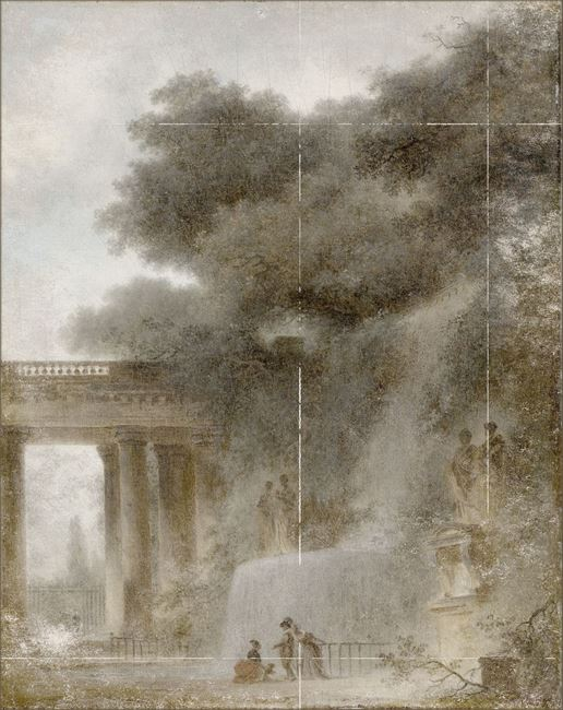 Picture of Fragonard - The Cascade - Mid Gallery Wrap Canvas
