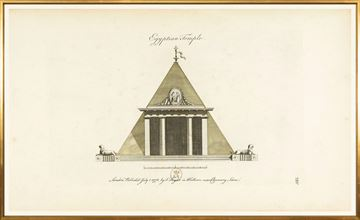 Picture of Engraving - Egyptian Temple, 1778 - Large