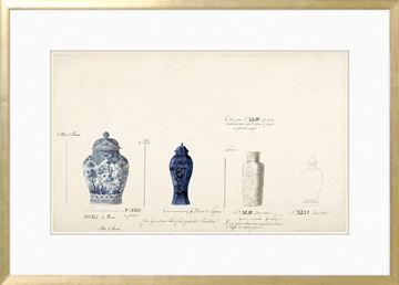 Picture of 18th Century Vase Design I - Cobalt