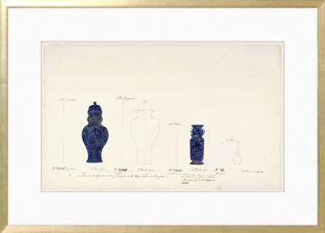 Picture of 18th Century Vase Design II - Cobalt