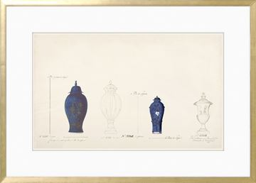 Picture of 18th Century Vase Design III - Cobalt