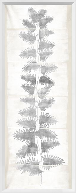 Picture of Tall Frond II - Cream and Grey - Large