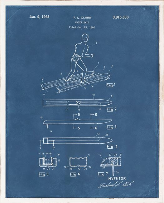 Picture of Patent - Water Skis I