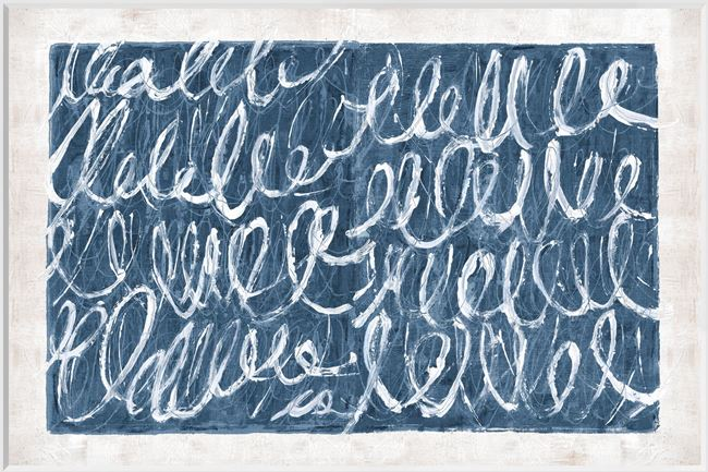 Picture of Twombly Script in Blue